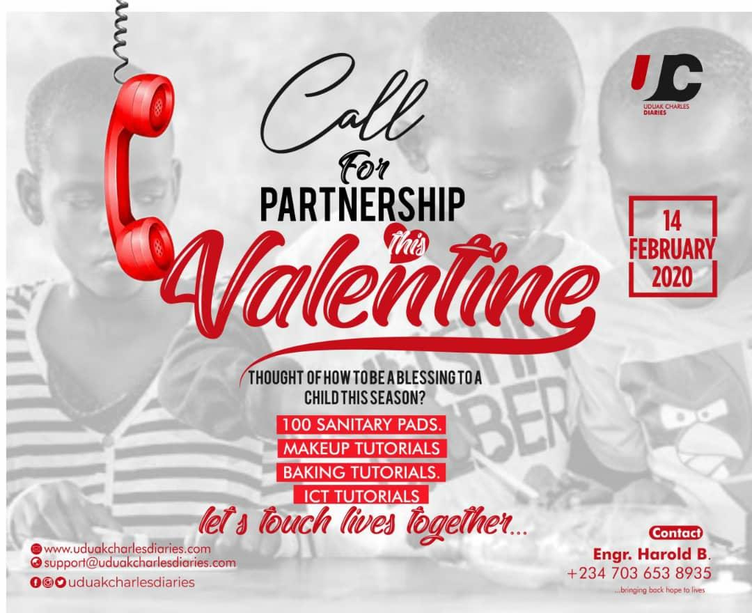 Valentine 2020 Call for Partnership - UduakCharlesDiaries